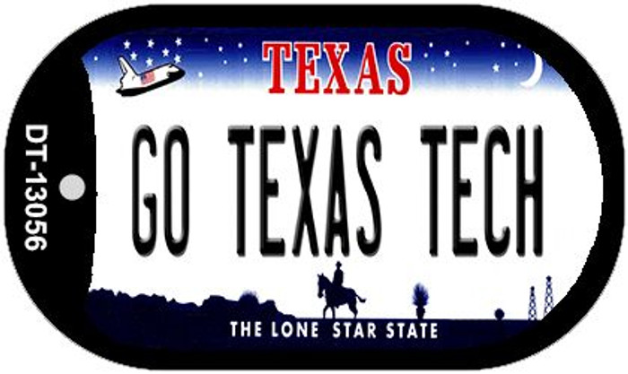 Go Texas Tech Wholesale Novelty Metal Dog Tag Necklace DT-13056