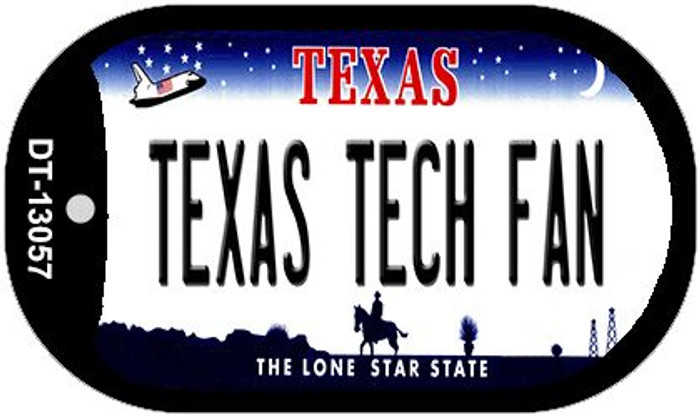 Texas Tech Fan Wholesale Novelty Metal Dog Tag Necklace DT-13057