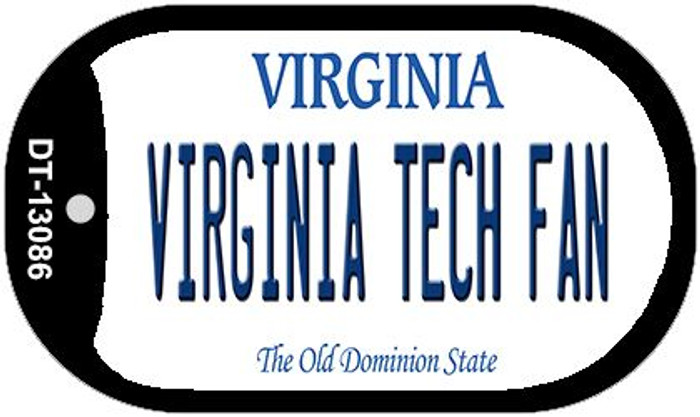 Virginia Tech Fan Wholesale Novelty Metal Dog Tag Necklace DT-13086