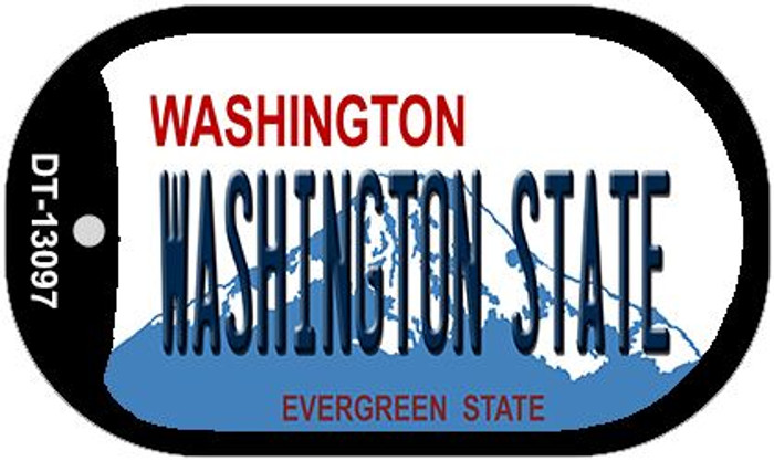 Washington State Wholesale Novelty Metal Dog Tag Necklace DT-13097