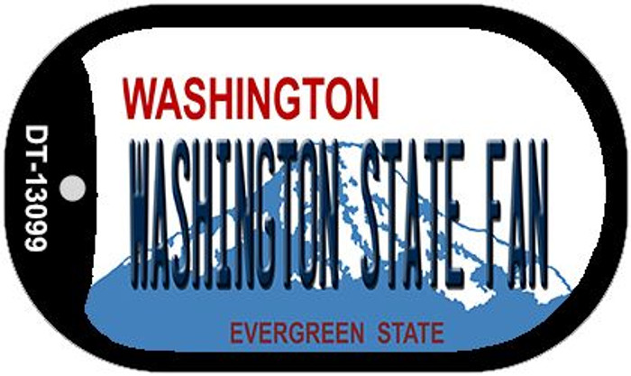 Washington State Fan Wholesale Novelty Metal Dog Tag Necklace DT-13099