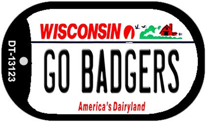 Go Badgers Wholesale Novelty Metal Dog Tag Necklace DT-13123