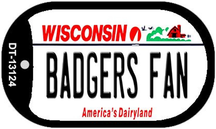 Badgers Fan Wholesale Novelty Metal Dog Tag Necklace DT-13124