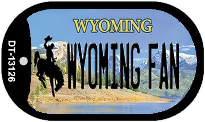 Wyoming Fan Wholesale Novelty Metal Dog Tag Necklace DT-13126