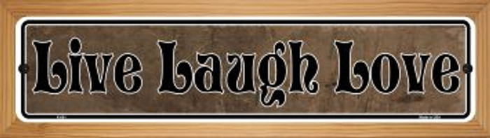 Live Laugh Love Wholesale Novelty Wood Mounted Metal Mini Street Sign WB-K-001