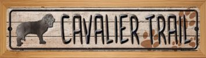 Cavalier Trail Wholesale Novelty Wood Mounted Metal Small Street Sign WB-K-046