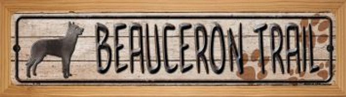 Beauceron Trail Wholesale Novelty Wood Mounted Metal Small Street Sign WB-K-100