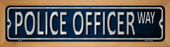 Police Officer Wholesale Novelty Wood Mounted Metal Small Street Sign WB-K-434
