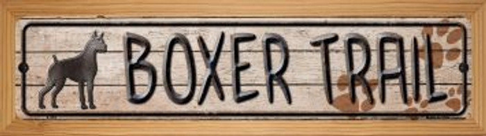 Boxer Trail Wholesale Novelty Wood Mounted Metal Small Street Sign WB-K-454