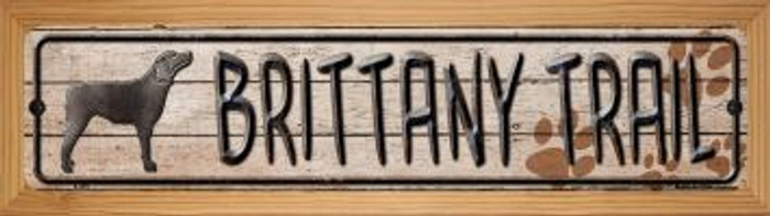 Brittany Trail Wholesale Novelty Wood Mounted Metal Small Street Sign WB-K-455
