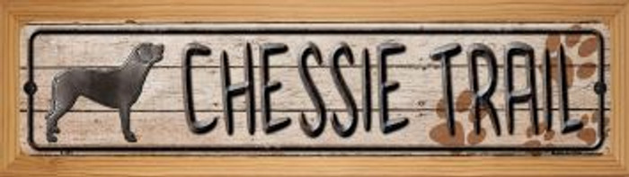 Chessie Trail Wholesale Novelty Wood Mounted Metal Small Street Sign WB-K-465