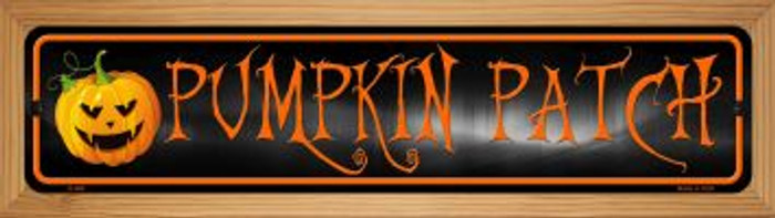 Pumpkin Patch Wholesale Novelty Wood Mounted Metal Small Street Sign WB-K-488