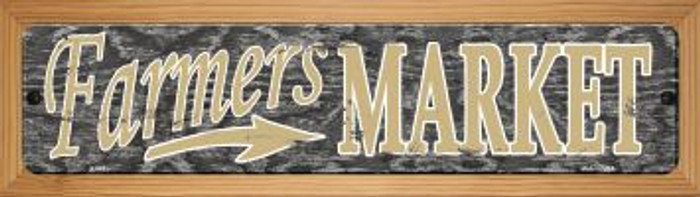 Farmers Market Wholesale Novelty Wood Mounted Metal Mini Street Sign WB-K-543