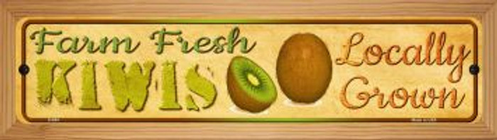 Farm Fresh Kiwis Wholesale Novelty Wood Mounted Metal Small Street Sign WB-K-684