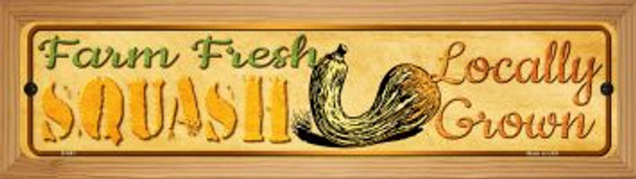 Farm Fresh Squash Wholesale Novelty Wood Mounted Metal Small Street Sign WB-K-691