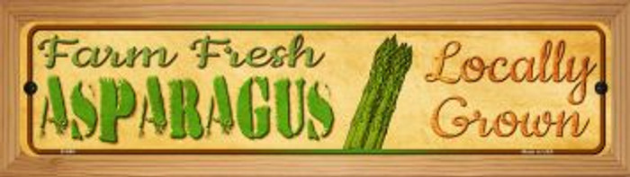 Farm Fresh Asparagus Wholesale Novelty Wood Mounted Metal Small Street Sign WB-K-695