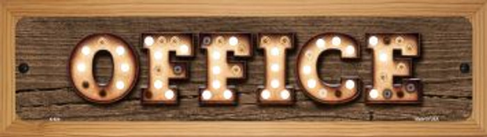 Office Wholesale Novelty Wood Mounted Metal Small Street Sign WB-K-824