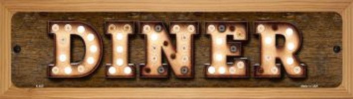 Diner Wholesale Novelty Wood Mounted Metal Small Street Sign WB-K-825
