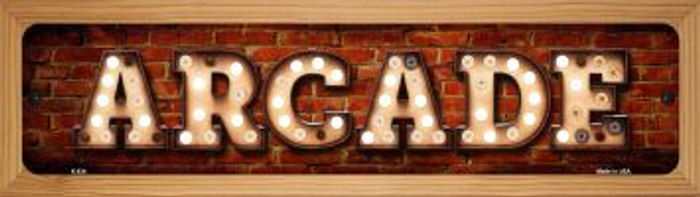 Arcade Wholesale Novelty Wood Mounted Metal Small Street Sign WB-K-834