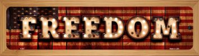 Freedom Wholesale Novelty Wood Mounted Metal Small Street Sign WB-K-847