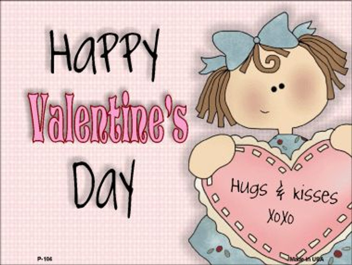 Happy Valentines Day Wholesale Metal Novelty Parking Sign P-104