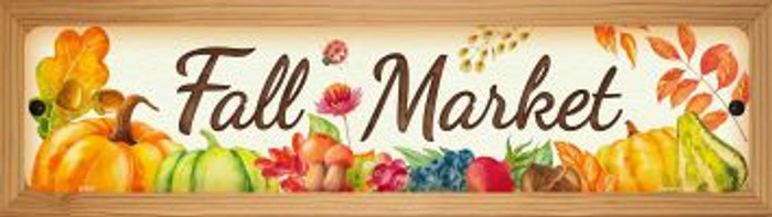 Fall Market Wholesale Novelty Wood Mounted Metal Small Street Sign WB-K-903