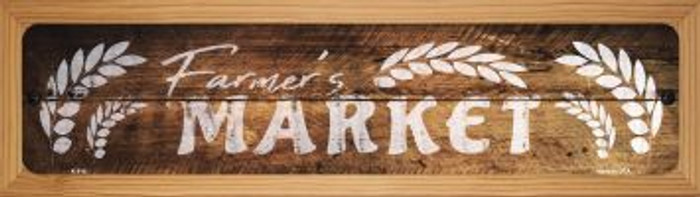 Farmers Market Wholesale Novelty Wood Mounted Metal Small Street Sign WB-K-914