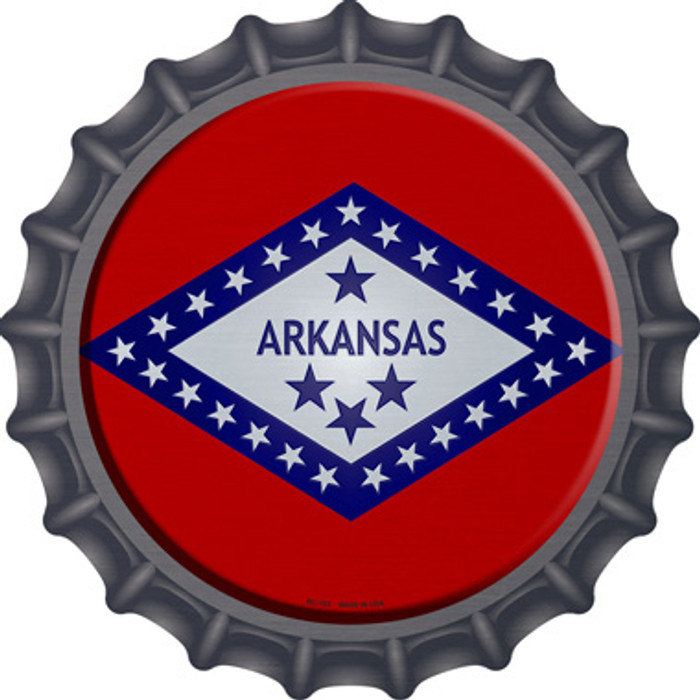 Arkansas State Flag Wholesale Novelty Metal Bottle Cap BC-103