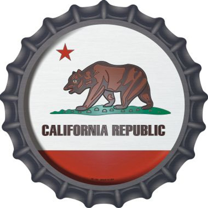 California State Flag Wholesale Novelty Metal Bottle Cap BC-104