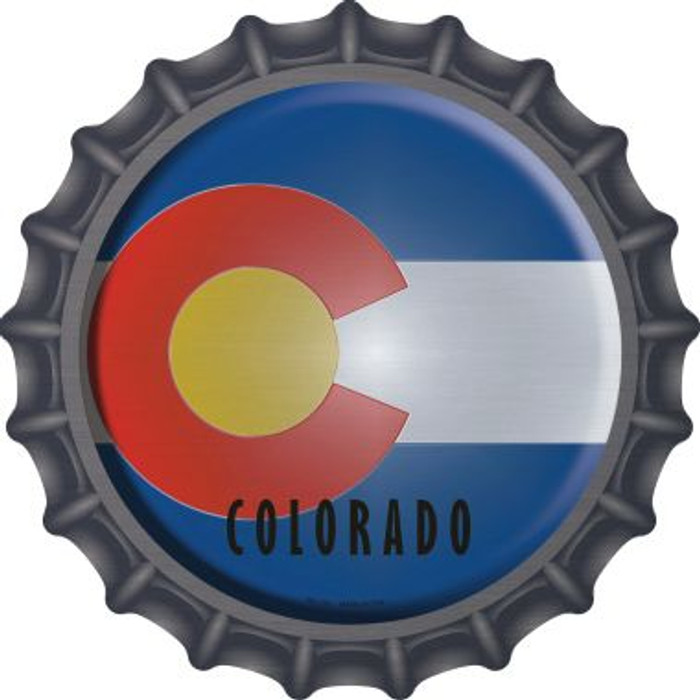 Colorado State Flag Wholesale Novelty Metal Bottle Cap BC-105