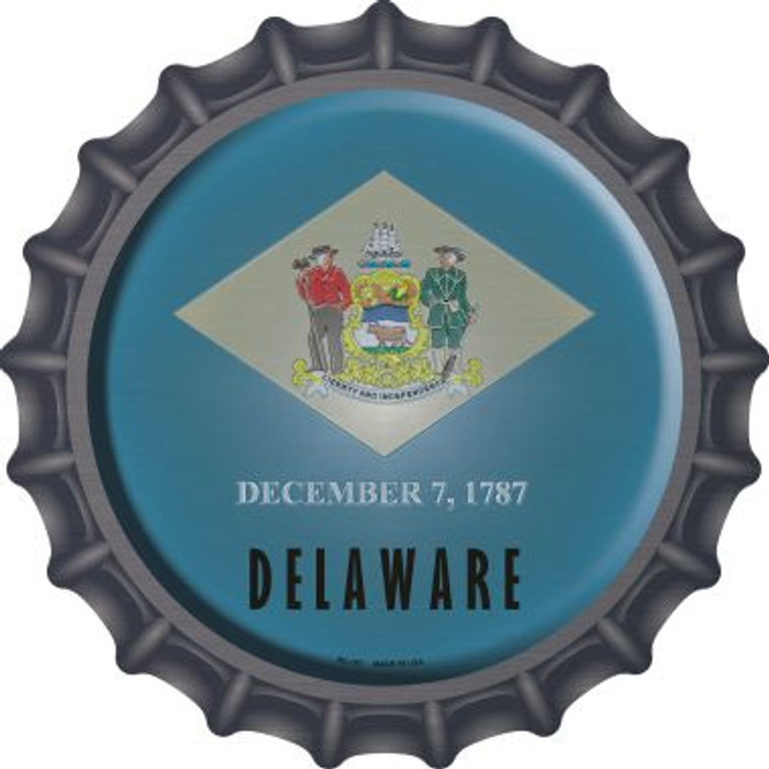 Delaware State Flag Wholesale Novelty Metal Bottle Cap BC-107