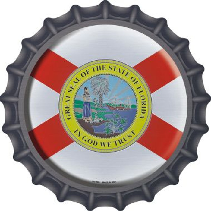 Florida State Flag Wholesale Novelty Metal Bottle Cap BC-108