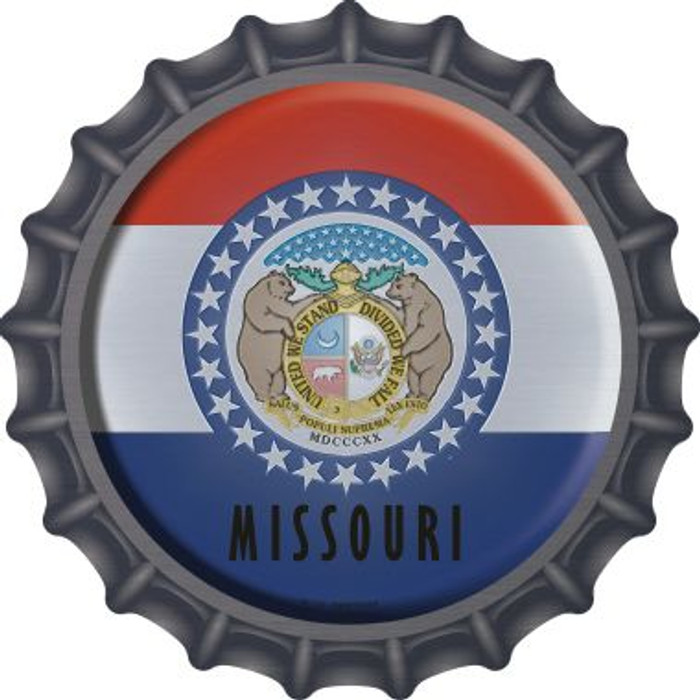 Missouri State Flag Wholesale Novelty Metal Bottle Cap BC-124