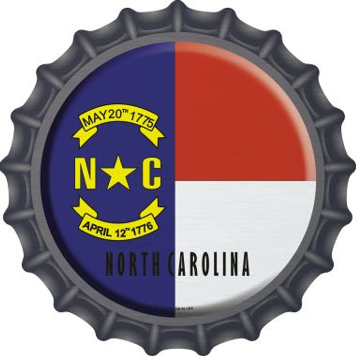 North Carolina State Flag Wholesale Novelty Metal Bottle Cap BC-132