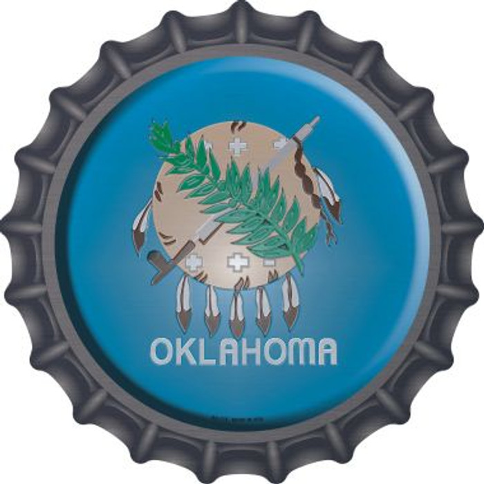 Oklahoma State Flag Wholesale Novelty Metal Bottle Cap BC-135