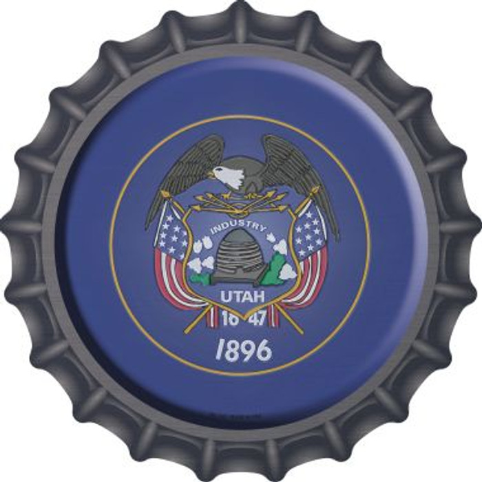 Utah State Flag Wholesale Novelty Metal Bottle Cap BC-143