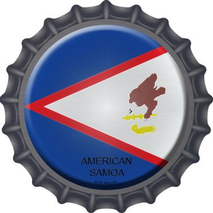 American Samoa Country Wholesale Novelty Metal Bottle Cap BC-186