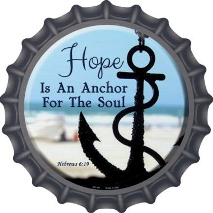 Hope Anchor For Soul Wholesale Novelty Metal Bottle Cap BC-177
