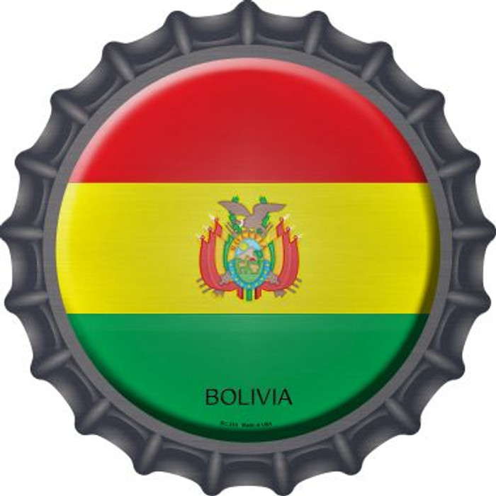 Bolivia Country Wholesale Novelty Metal Bottle Cap BC-210
