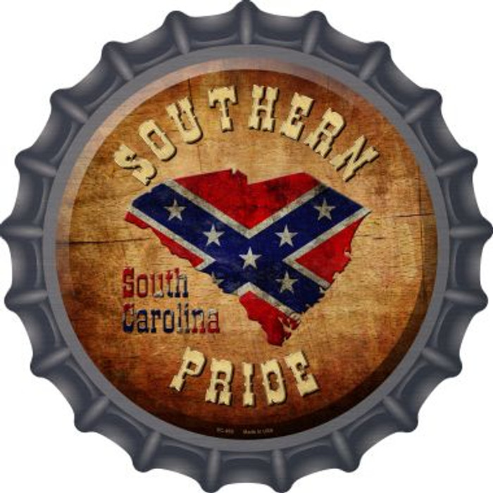Southern Pride South Carolina Wholesale Novelty Metal Bottle Cap BC-492
