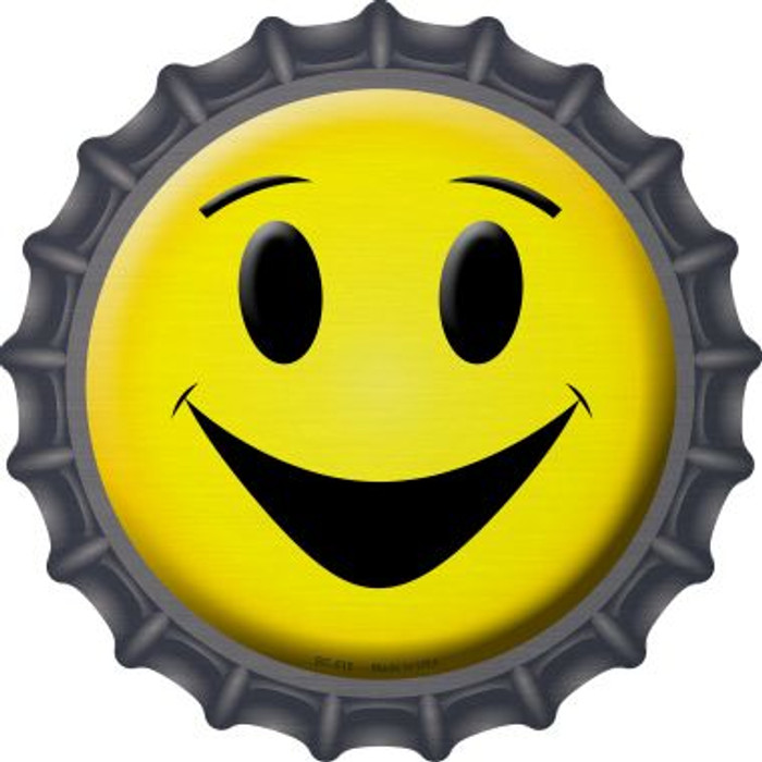 Yellow Smiling Face Wholesale Novelty Metal Bottle Cap BC-515