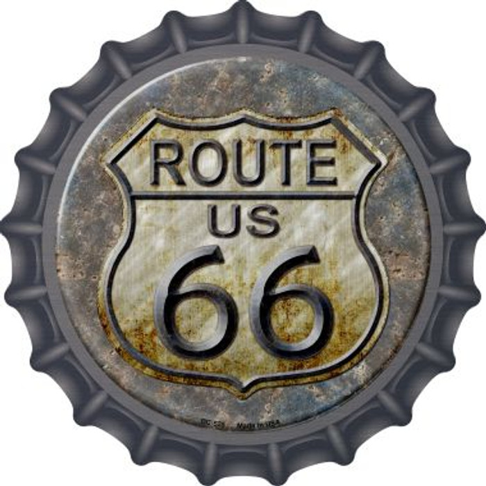 Rusty Route 66 Wholesale Novelty Metal Bottle Cap BC-525