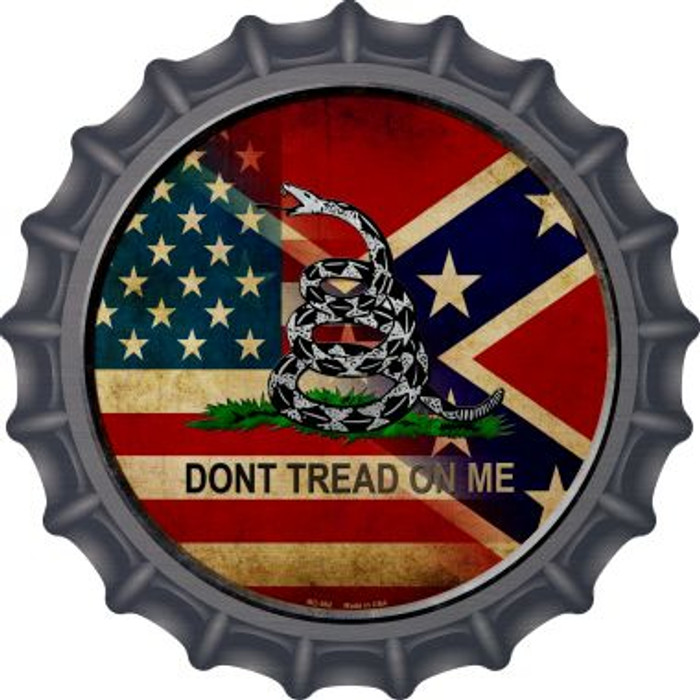 American Confederate Dont Tread On Me Wholesale Novelty Metal Bottle Cap BC-562