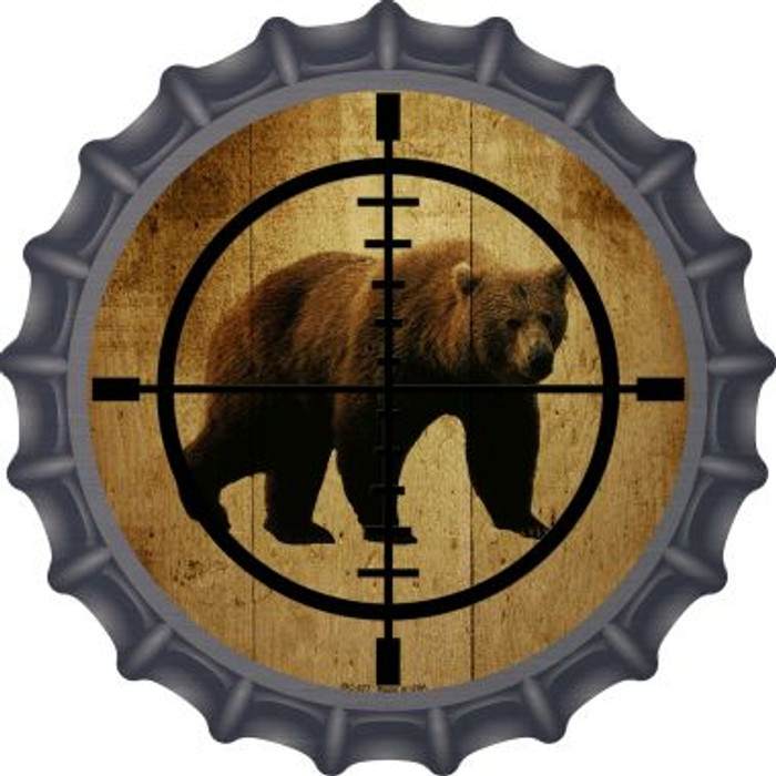 Bear Hunter Wholesale Novelty Metal Bottle Cap BC-577