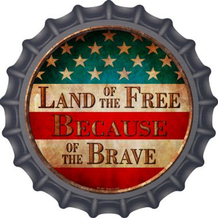 Land of The Free Wholesale Novelty Metal Bottle Cap BC-591