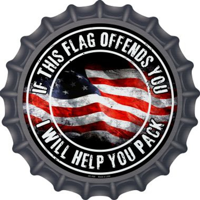 This Flag Offends You Wholesale Novelty Metal Bottle Cap BC-599