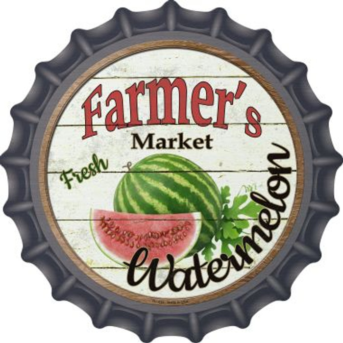 Farmers Market Watermelon Wholesale Novelty Metal Bottle Cap BC-624