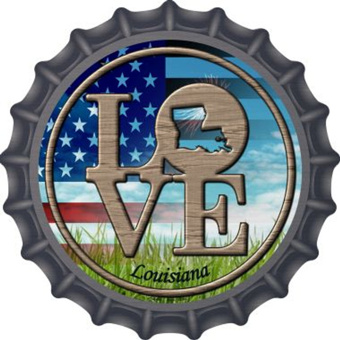 Love Louisiana Wholesale Novelty Metal Bottle Cap BC-683