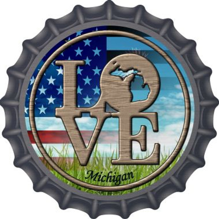 Love Michigan Wholesale Novelty Metal Bottle Cap BC-687