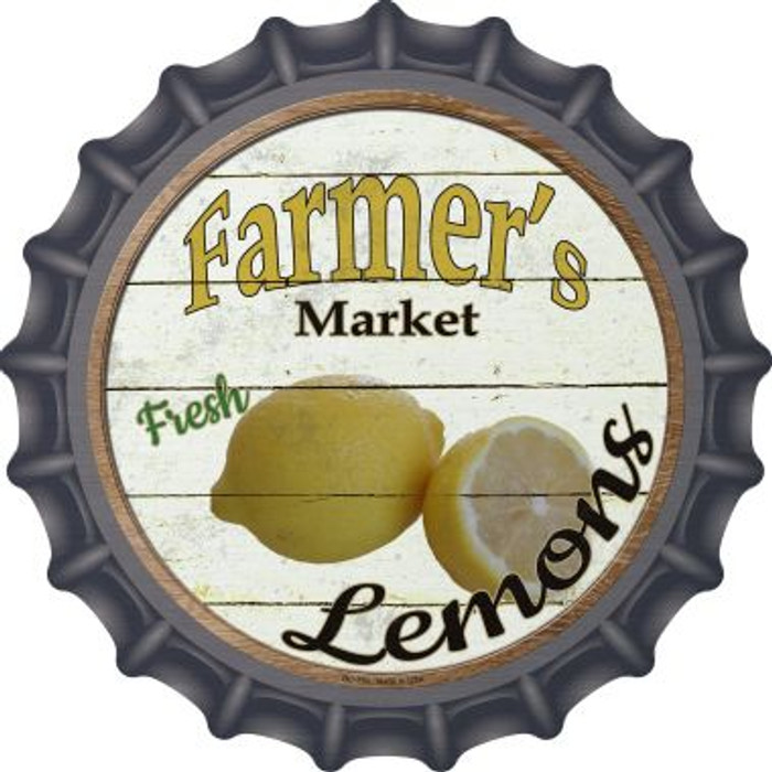 Farmers Market Lemons Wholesale Novelty Metal Bottle Cap BC-759